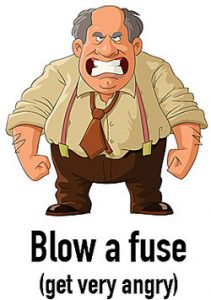 Image result for blow a fuse idiom
